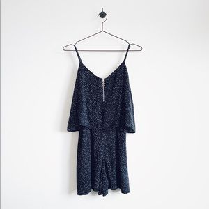 Mango Dresses - Mango Blue Printed Short Jumpsuit/Romper